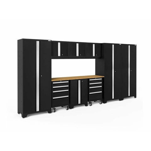 NewAge Products Garage Cabinets Black / Bamboo NewAge Products BOLD SERIES 3.0 10 Piece Cabinet Set 63250