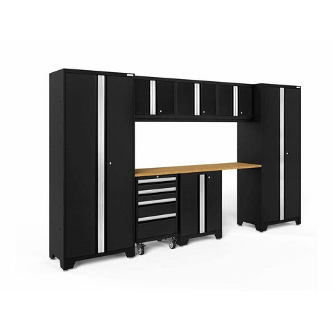 NewAge Products Garage Cabinets Black / Bamboo NewAge Products BOLD SERIES 3.0 8 Piece Cabinet Set 50404 63106