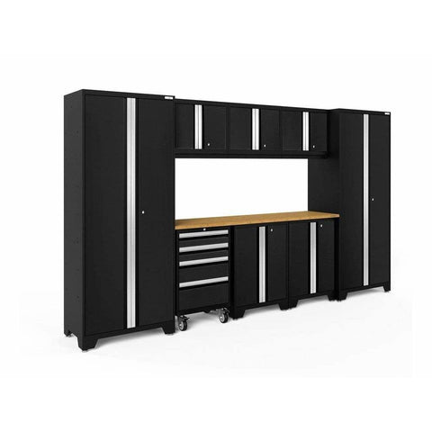 NewAge Products Garage Cabinets Black / Bamboo NewAge Products BOLD SERIES 3.0 9 Piece Cabinet Set 50408 63150