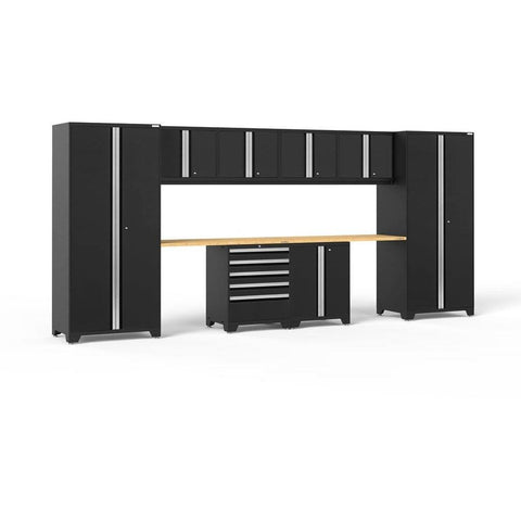 NewAge Products Garage Cabinets Black / Bamboo NewAge Products PRO SERIES 3.0 10 Piece Cabinet Set 52050 64189