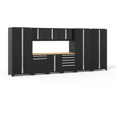 NewAge Products Garage Cabinets Black / Bamboo NewAge Products PRO SERIES 3.0 10 Piece Cabinet Set 52151