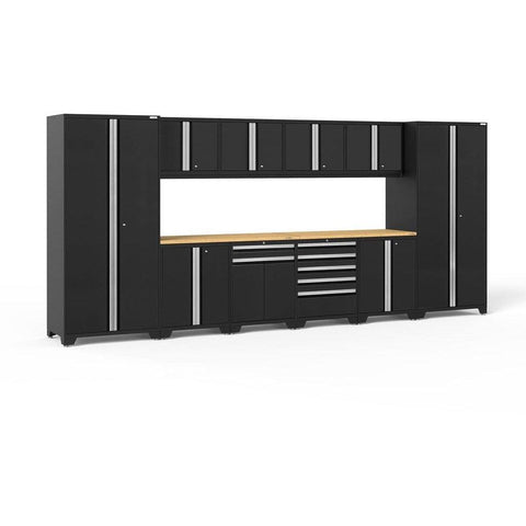 NewAge Products Garage Cabinets Black / Bamboo NewAge Products PRO SERIES 3.0 12 Piece Cabinet Set 52153 64284