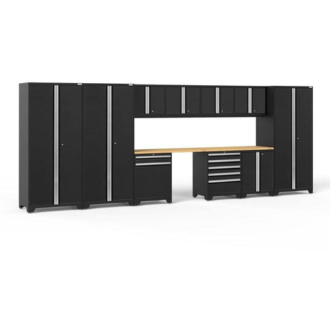 NewAge Products Garage Cabinets Black / Bamboo - Pre-Order (ETA 90 Days or More) NewAge Products PRO SERIES 3.0 12 Piece Cabinet Set 52118 64292