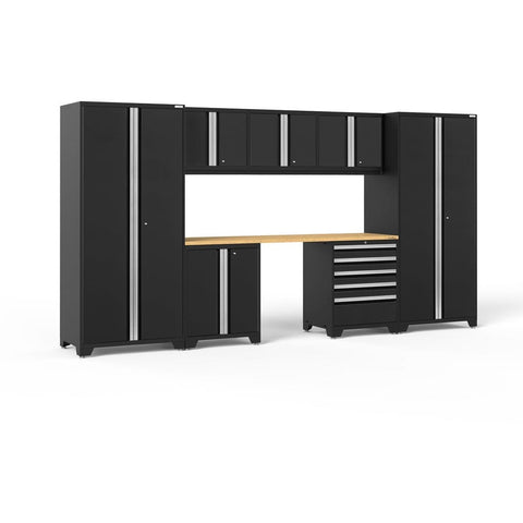 NewAge Products Garage Cabinets Black NewAge Products PRO SERIES 3.0 8 Piece Cabinet Set 52061 64104