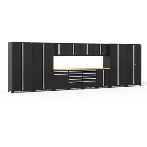 Image of NewAge Products Garage Cabinets Black - Pre-Order (ETA 90 Days or More) NewAge Products PRO SERIES 3.0 14 Piece Cabinet Set 52051 64302
