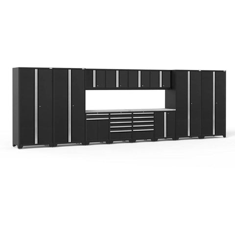 Image of NewAge Products Garage Cabinets Black - Pre-Order (ETA 90 Days or More) NewAge Products PRO SERIES 3.0 14 Piece Cabinet Set 52144 64305