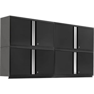 NewAge Products Garage Cabinets Black - Pre-Order (ETA 90 Days or More) NewAge Products PRO SERIES 3.0 4 Piece Cabinet Set 55990 64338