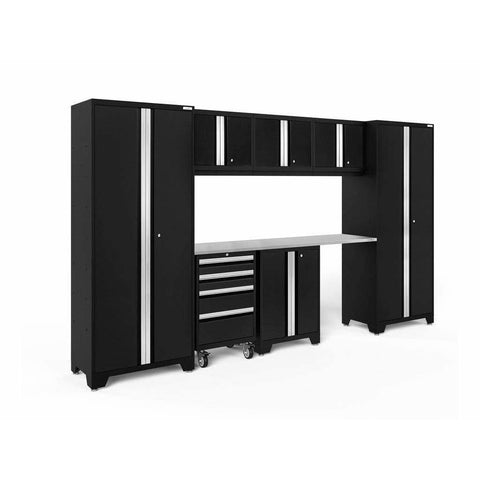 NewAge Products Garage Cabinets Black / Stainless Steel NewAge Products BOLD SERIES 3.0 8 Piece Cabinet Set 50404 63105