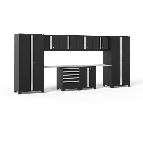 NewAge Products Garage Cabinets Black / Stainless Steel NewAge Products PRO SERIES 3.0 10 Piece Cabinet Set 52050 64192