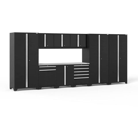 NewAge Products Garage Cabinets Black / Stainless Steel NewAge Products PRO SERIES 3.0 10 Piece Cabinet Set 52151