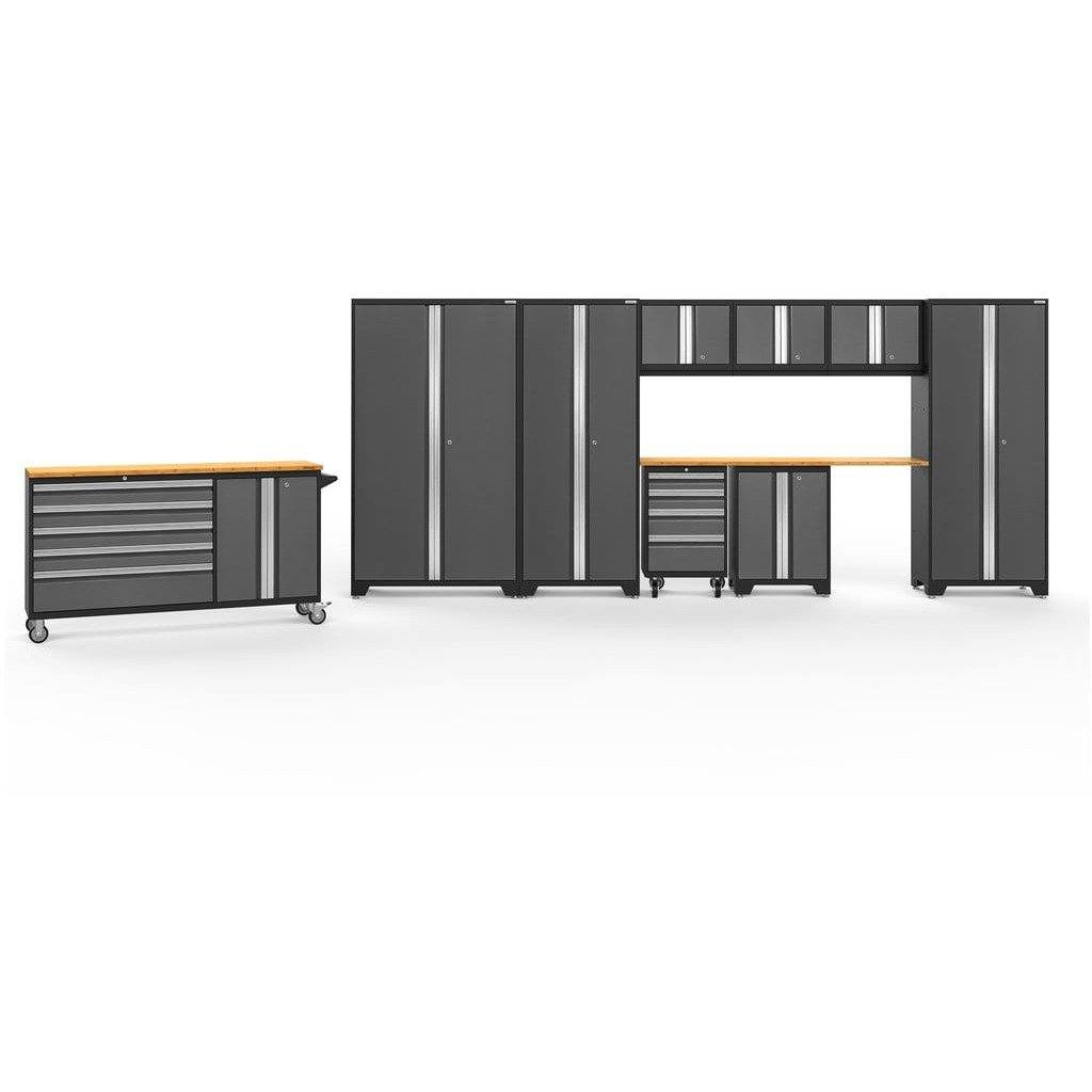 NewAge Products Garage Cabinets Gray / Bamboo / Gray Bamboo NewAge Products BOLD SERIES 3.0 10 Piece Cabinet Set 50514 50514