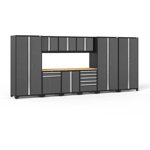 NewAge Products Garage Cabinets Gray / Bamboo NewAge Products PRO SERIES 3.0 10 Piece Cabinet Set 52151