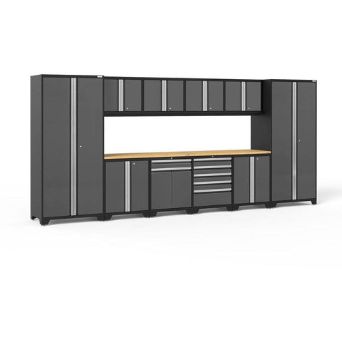 NewAge Products Garage Cabinets Gray / Bamboo NewAge Products PRO SERIES 3.0 12 Piece Cabinet Set 52153 52153