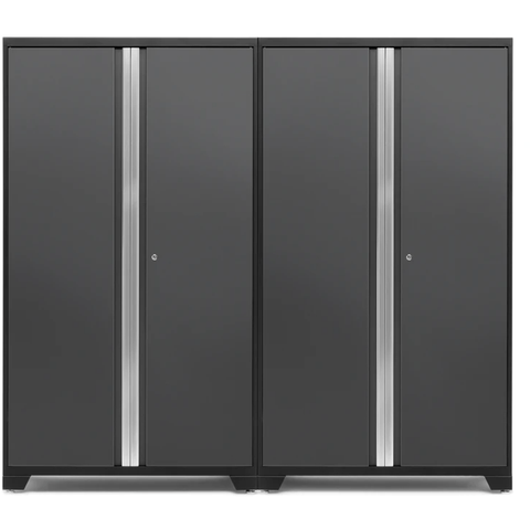 Image of NewAge Products Garage Cabinets Gray NewAge Products BOLD SERIES 3.0 2 Piece Cabinet Set 53834 53834
