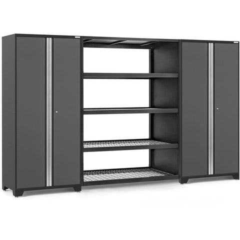 Image of NewAge Products Garage Cabinets Gray NewAge Products PRO SERIES 3.0 3 Piece Cabinet Set 55996 55996