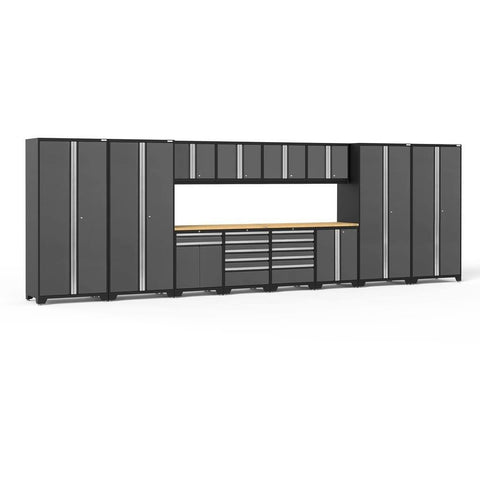 Image of NewAge Products Garage Cabinets Gray - Pre-Order (ETA 90 Days or More) NewAge Products PRO SERIES 3.0 14 Piece Cabinet Set 52051 52051