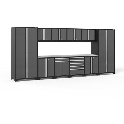 NewAge Products Garage Cabinets Gray / Stainless Steel NewAge Products PRO SERIES 3.0 12 Piece Cabinet Set 52153 52154