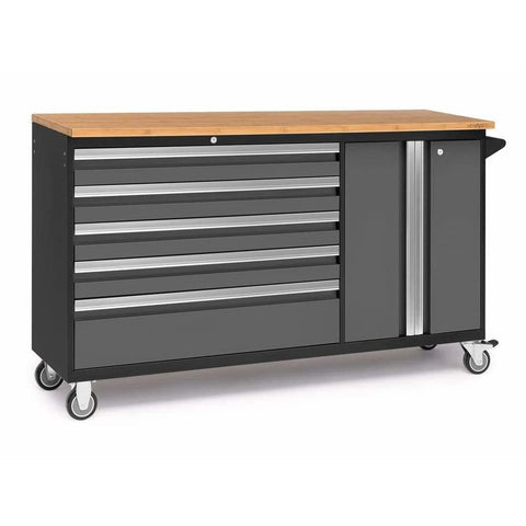 NewAge Products Garage Cabinets Grey / Bamboo NewAge Products BOLD SERIES 3.0 Project Centre 53824 53824