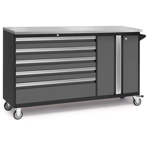 NewAge Products Garage Cabinets Grey / Stainless Steel NewAge Products BOLD SERIES 3.0 Project Centre 53824 53825