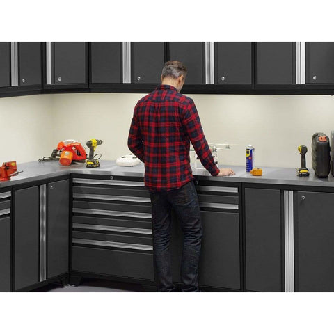 NewAge Products Garage Cabinets NewAge Products PRO SERIES 3.0 Gray 10 Piece Cabinet Set 52098