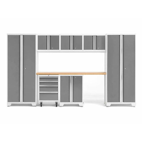 NewAge Products Garage Cabinets Platinum / Bamboo NewAge Products BOLD SERIES 3.0 8 Piece Cabinet Set 50404 54932