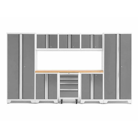 NewAge Products Garage Cabinets Platinum / Bamboo NewAge Products BOLD SERIES 3.0 9 Piece Cabinet Set 50408 54992