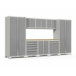 NewAge Products Garage Cabinets Platinum / Bamboo NewAge Products PRO SERIES 3.0 9 Piece Cabinet Set 52066 52466