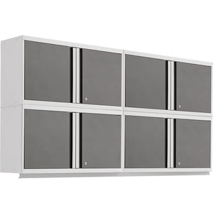 NewAge Products Garage Cabinets Platinum - In Stock NewAge Products PRO SERIES 3.0 4 Piece Cabinet Set 55990 55992