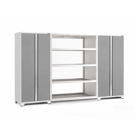 Image of NewAge Products Garage Cabinets Platinum NewAge Products PRO SERIES 3.0 3 Piece Cabinet Set 55996 55998