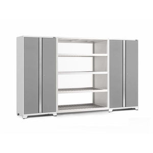 NewAge Products Garage Cabinets Platinum NewAge Products PRO SERIES 3.0 3 Piece Cabinet Set 55996 55998