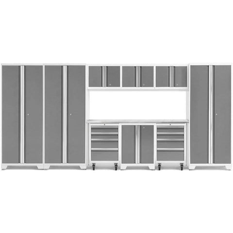 NewAge Products Garage Cabinets Platinum / Stainless Steel NewAge Products BOLD SERIES 3.0 10 Piece Cabinet Set 50413