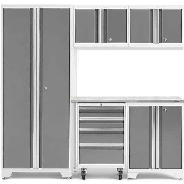 NewAge Products Garage Cabinets Platinum / Stainless Steel NewAge Products BOLD SERIES 3.0 6 Piece Cabinet Set 50400 54863