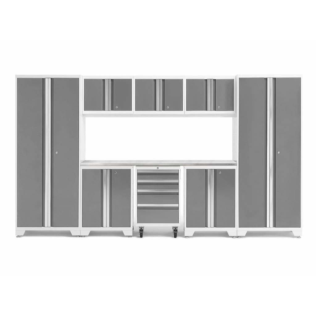 NewAge Products Garage Cabinets Platinum / Stainless Steel NewAge Products BOLD SERIES 3.0 9 Piece Cabinet Set 50408 54993