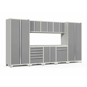 NewAge Products Garage Cabinets Platinum / Stainless Steel NewAge Products PRO SERIES 3.0 9 Piece Cabinet Set 52066 52562