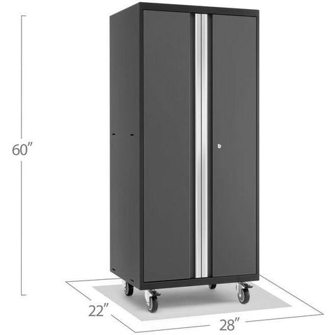 Image of NewAge Products Garage Cabinets Pro Series 3.0 NewAge Products PRO SERIES 3.0 Gray Mobile Locker 52016