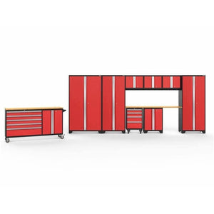 NewAge Products Garage Cabinets Red / Bamboo / Gray Bamboo NewAge Products BOLD SERIES 3.0 10 Piece Cabinet Set 50514 56461