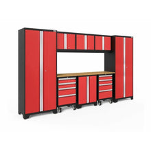 Load image into Gallery viewer, NewAge Products Garage Cabinets Red / Bamboo NewAge Products BOLD SERIES 3.0 9 Piece Cabinet Set 50406 50606