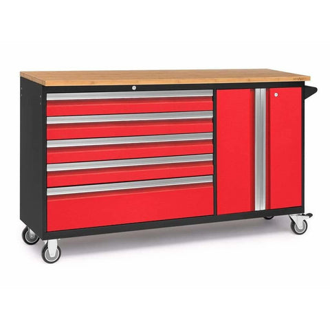 NewAge Products Garage Cabinets Red / Bamboo NewAge Products BOLD SERIES 3.0 Project Centre 53824 53826