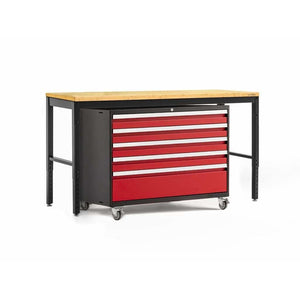 NewAge Products Garage Cabinets Red / Bamboo - Pre-Order (ETA 90 Days or More) NewAge Products PRO SERIES 3.0 2 Piece Cabinet Set 56872 56874
