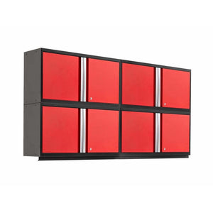 NewAge Products Garage Cabinets Red - In Stock NewAge Products PRO SERIES 3.0 4 Piece Cabinet Set 55990 55991