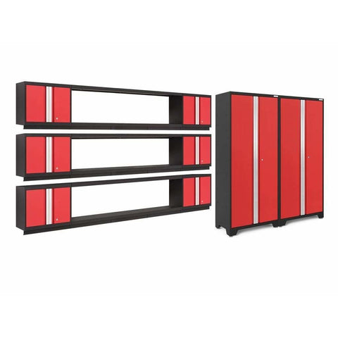 Image of NewAge Products Garage Cabinets Red NewAge Products BOLD SERIES 3.0 11 Piece Cabinet Set 50685 50686