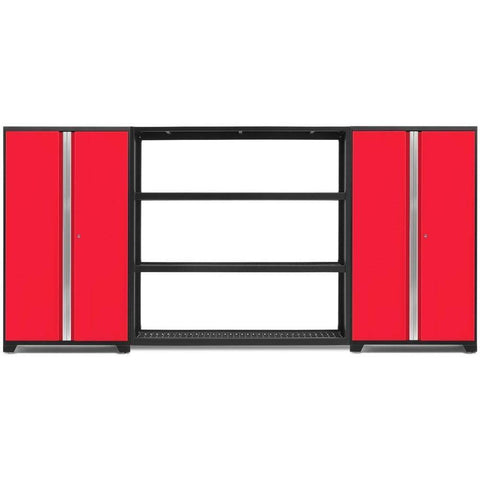 NewAge Products Garage Cabinets Red NewAge Products BOLD SERIES 3.0 3 Piece Cabinet Set 53832 53833