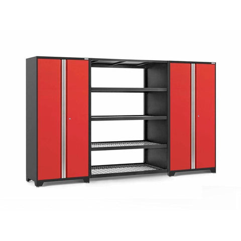 Image of NewAge Products Garage Cabinets Red NewAge Products PRO SERIES 3.0 3 Piece Cabinet Set 55996 55997