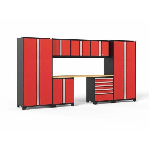NewAge Products Garage Cabinets Red NewAge Products PRO SERIES 3.0 8 Piece Cabinet Set 52061 52261