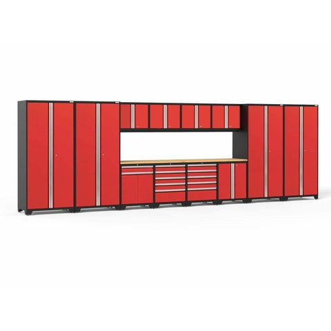 Image of NewAge Products Garage Cabinets Red - Pre-Order (ETA 90 Days or More) NewAge Products PRO SERIES 3.0 14 Piece Cabinet Set 52051 52251