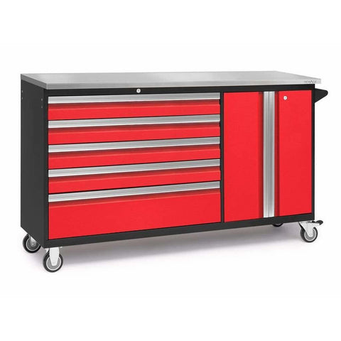 NewAge Products Garage Cabinets Red / Stainless Steel NewAge Products BOLD SERIES 3.0 Project Centre 53824 53827