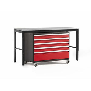 NewAge Products Garage Cabinets Red / Stainless Steel - Pre-Order (ETA 90 Days or More) NewAge Products PRO SERIES 3.0 2 Piece Cabinet Set 56872 56875