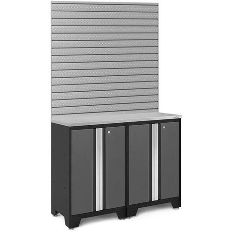 NewAge Products Garage Cabinets Stainless Steel NewAge Products BOLD SERIES 3.0 Gray 3 Piece Cabinet Set 50663 50667