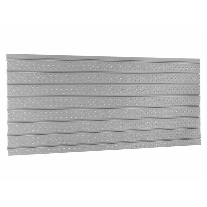 NewAge Products Slatwall NewAge PRO SERIES Diamond Plate Slatwall Set Backsplash 51713
