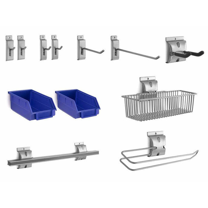 NewAge Products Slatwall NewAge Products 12-PIECE STEEL Slatwall Accessory Kit Slatwall Set 51720 51720